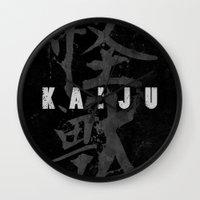 kaiju Wall Clocks featuring KAIJU by Mikio Murakami