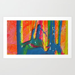 The Manipulation Of Paint #2 Art Print