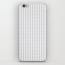 Light gray knitted pattern iPhone Skin