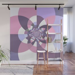 Mauve Lavender Puce Kaleidoscope Wall Mural