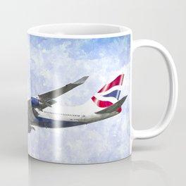 One world Boeing 747 Art Coffee Mug