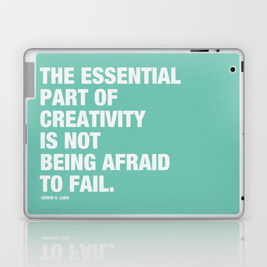 The Essentail Part of Creativity is not Being Afraid to Fail Laptop & iPad Skin