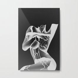 Under Boob Negative Metal Print