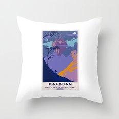 Dalaran Classic Rail Poster Throw Pillow