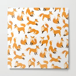 Cute fox Metal Print