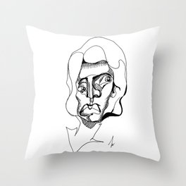Tired Lady Throw Pillow
