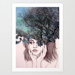 Scatterbrain Art Print