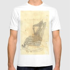 Time to relax White MEDIUM Mens Fitted Tee