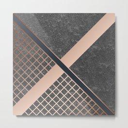 Copper & Concrete 04 Metal Print