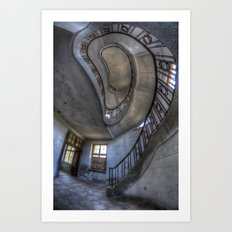 Steps of forgotten beauty. Art Print