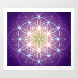 Purple Flower of Life Art Print