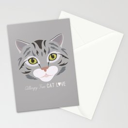 Allergy Free Cat Love: Silver Tabby Stationery Cards