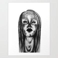 Lady Girl Woman Art Print