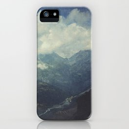 Valley and Mountains - Lombardia Italy iPhone Case