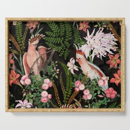 Vintage & Shabby Chic - Botanical Tropical Night Pattern  Serving Tray