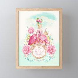 Marie Antoinette Let them Eat Cake Framed Mini Art Print