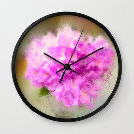 Pink Rhododendrons  Wall Clock