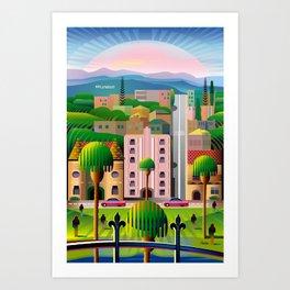 Classic Los Angeles Art Print