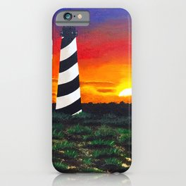 Cape Hatteras Lighthouse Painting iPhone Case