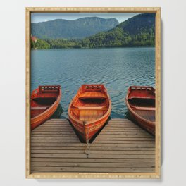 Lake Bled Boats Serving Tray