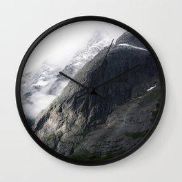 Mountain landscape #norway Wall Clock