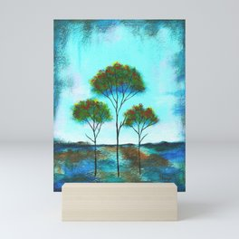 Blessings, Skinny Trees Rustic Art Mini Art Print