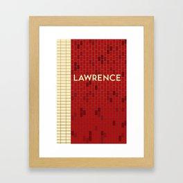 LAWRENCE | Subway Station Framed Art Print