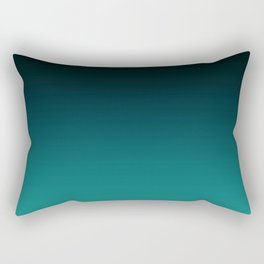 Black and turquoise Ombre . Rectangular Pillow