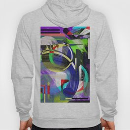 Try To Make Sense Of It All - Random, geometric, eclectic, abstract, colourful art Hoody