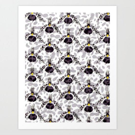 Orchid Pattern II Art Print