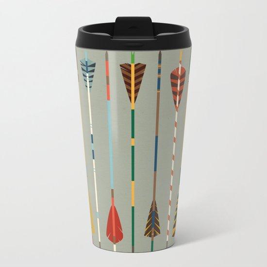 Vintage Arrows Metal Travel Mug