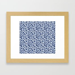 Blueberries Pattern Framed Art Print