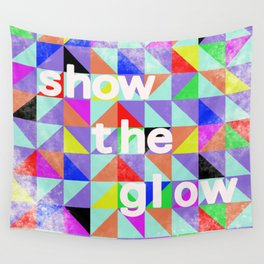 Show The Glow Geometric Triangles Wall Tapestry