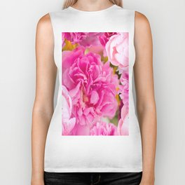 Large Pink Peony Flowers #decor #society6 #buyart Biker Tank