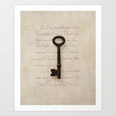 Solo Key Script Art Print