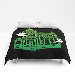 Haunted Victorian House Comforters