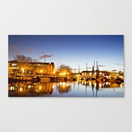 Bristol harbourside Canvas Print