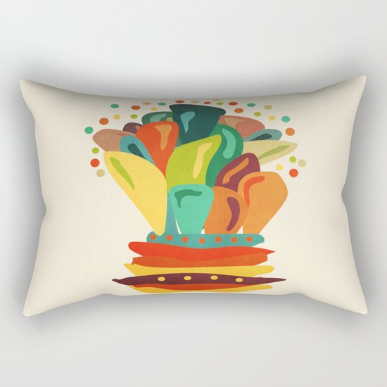 Colors and flowers 2 Rectangular Pillow