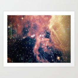 Cool milky way galaxy texture Art Print