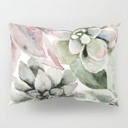 Circular Succulent Watercolor Pillow Sham