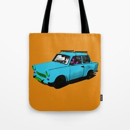 Trabant blue pop Tote Bag