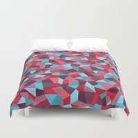 stained glass Duvet Covers featuring Stained Glass by mthw design