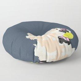 Golden Retriever with tennis ball Floor Pillow