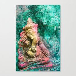 Ganesha yellow Canvas Print