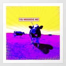 Psychedelic Cows Art Print