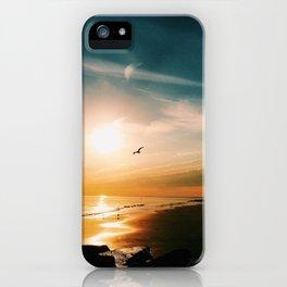 Winter Ocean Sunset iPhone Case