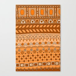 Yzor pattern 008 warm Canvas Print