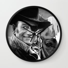 John Wayne @ True Grit #1 Wall Clock