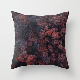 Red Forest | Aerial Photography  Throw Pillow