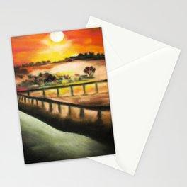 running at dusk 1 Stationery Cards